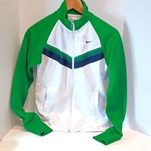 NIKE Retro Track Jacket Small Green Sleeves
